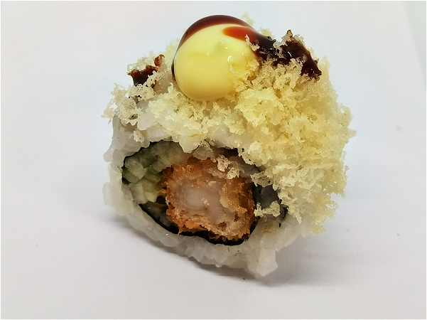 Foto Crispy Gamba Dragon Roll